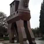 Réplica do Cavalo de Troia, na cidade de mesmo nome