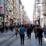 Avenida Istiklal, no centro de Istambul