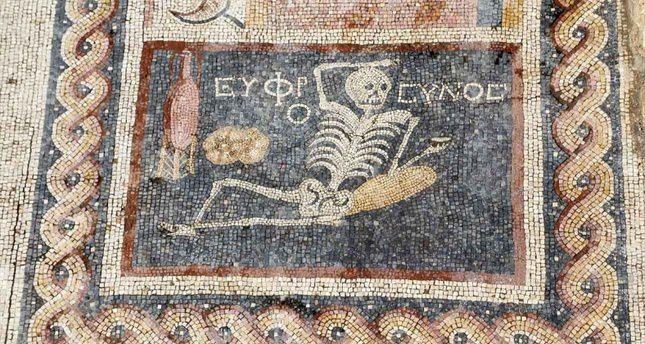 Encontrado na Turquia mosaico de 2.400 anos